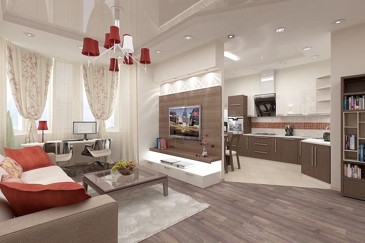 сможете примерить смотреть фото дома зал вместе с кухней рагимов