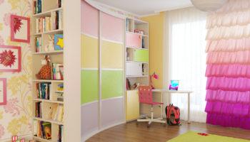 115 фото современных шкафов-купе в детскую комнату