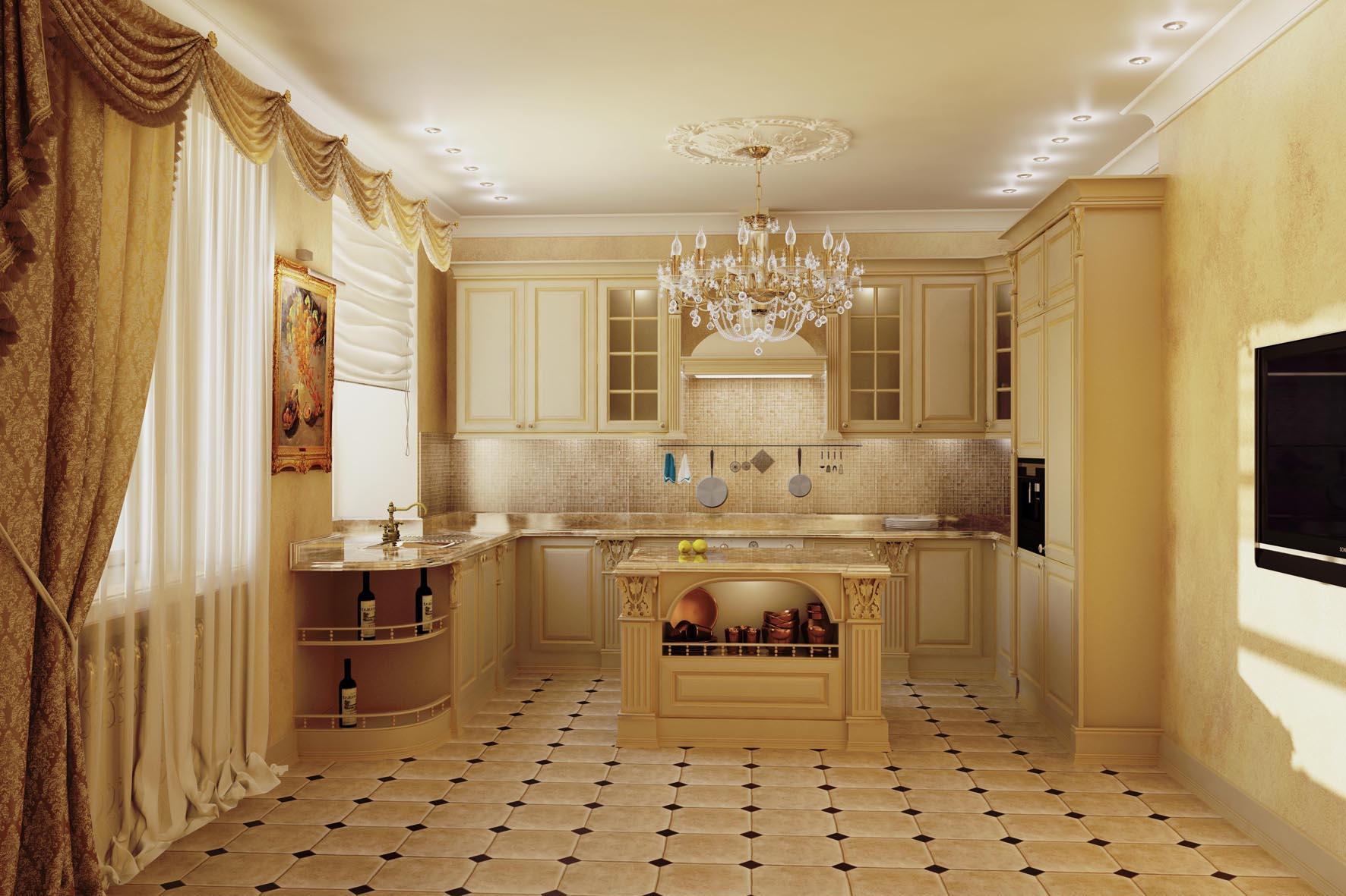 кухня студия формы г классика дизайн фото теперь