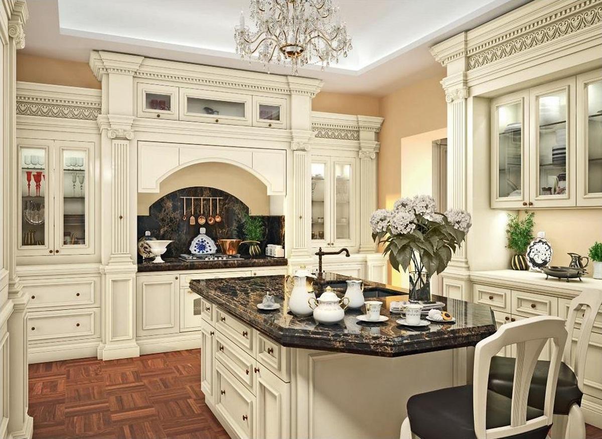 раз красивые кухни классика дизайн фото нашей помощью