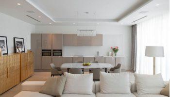 Кухня гостиная в стиле минимализм: 100 примеров стильного дизайна