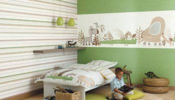 Комбинированные обои для спальни: модные тенденции