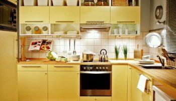 Кухня в желтом цвете: дизайн и сочетания цветов