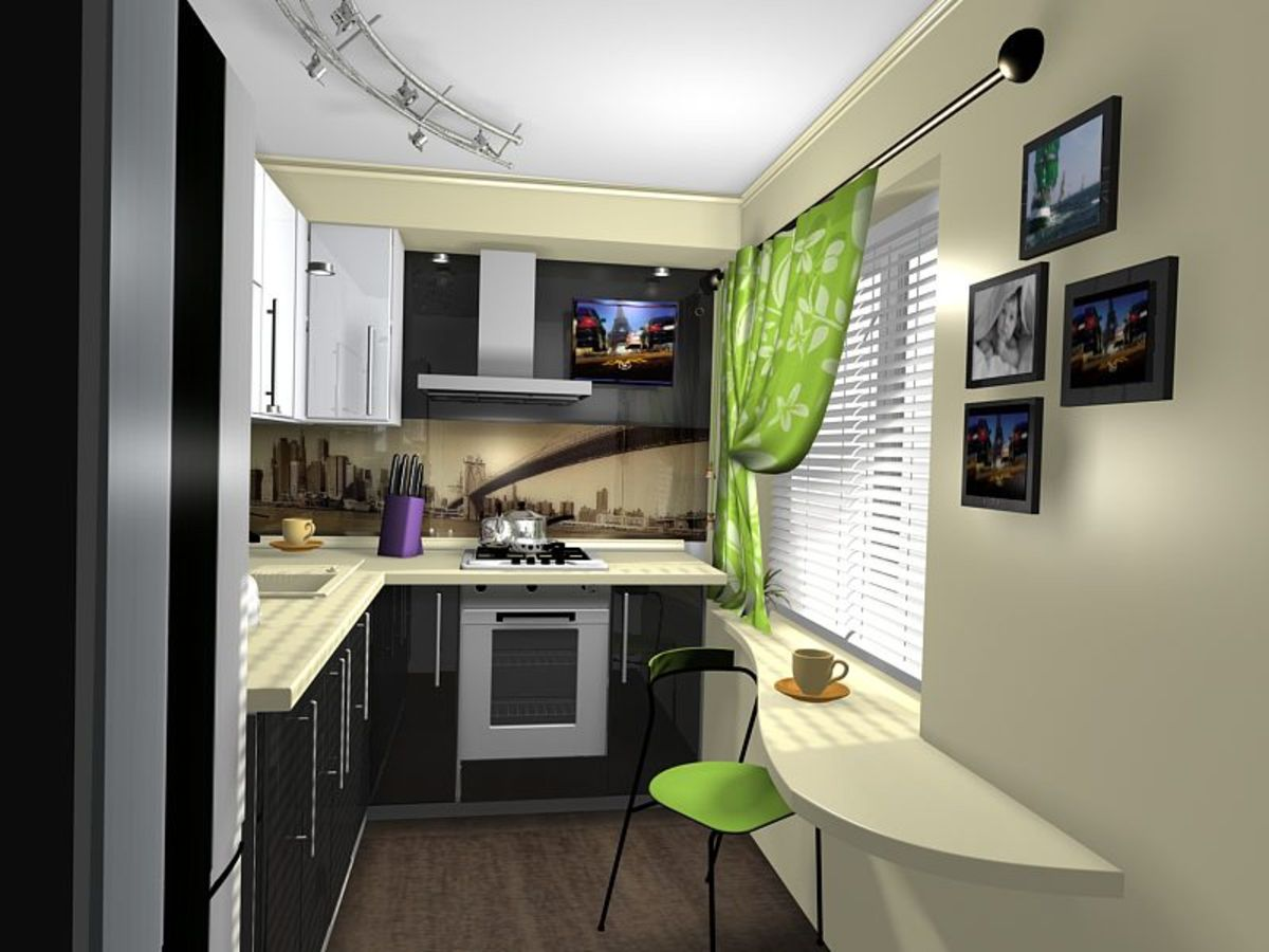 kitchen with dining table mounting