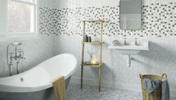 Мозаика на полу в ванной: виды мозаики и идеи дизайна
