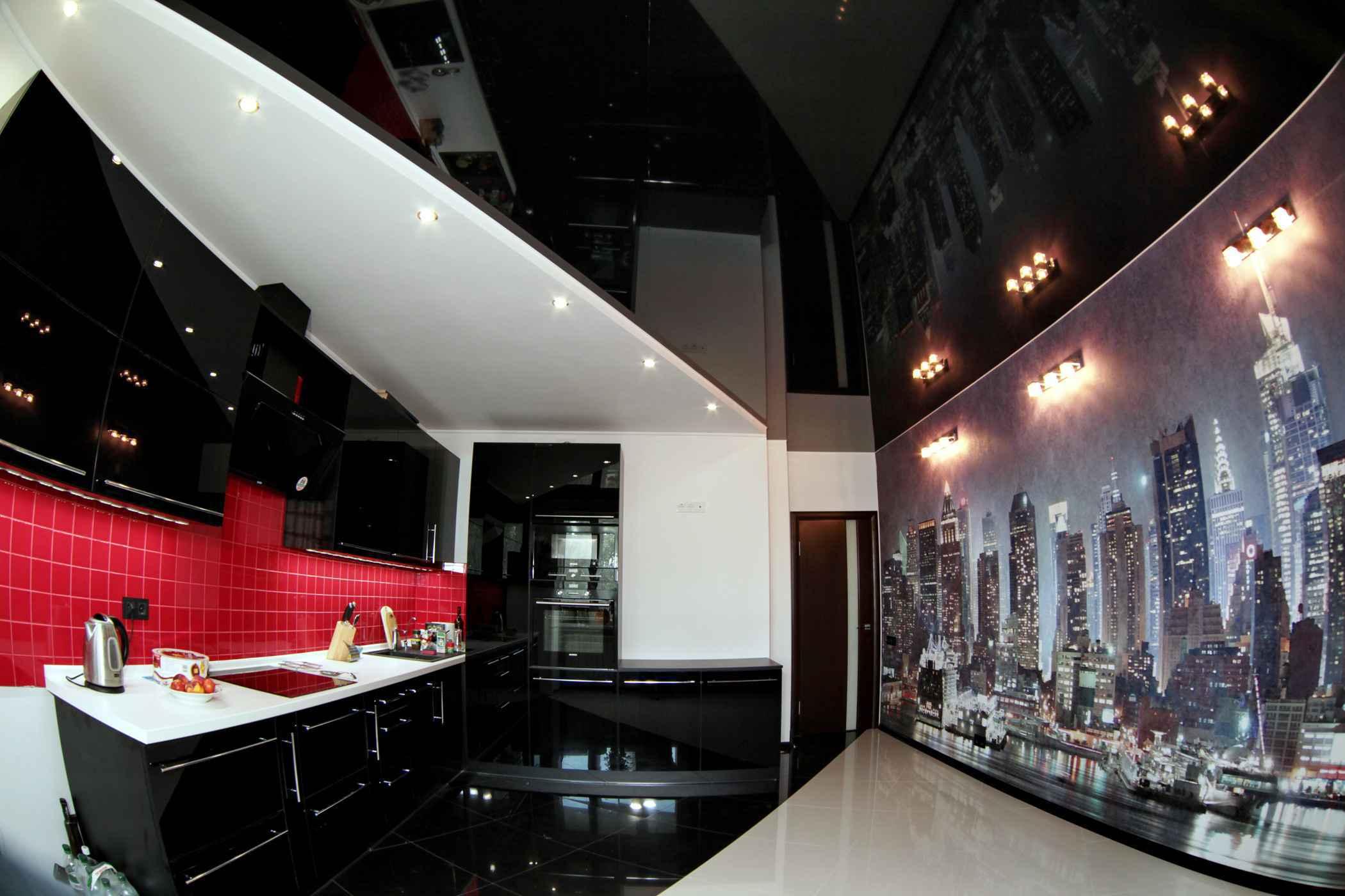 луганские, они черный натяжных потолков на кухню фото черно-белые