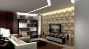Отделка стен гостиной: современные и красивые идеи