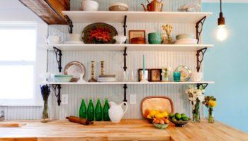 Оригинальные и практичные полки для кухни