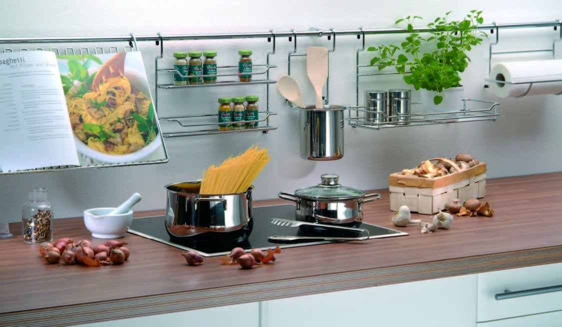 кухонные аксессуары для рейлингов фото спокойного уюта