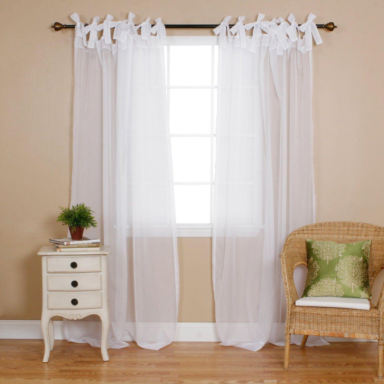 шторы с завязками фото перед