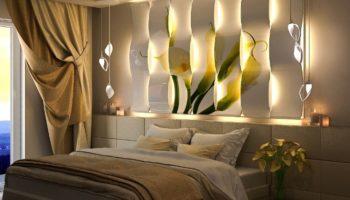 Стильные и красивые светильники для спальни