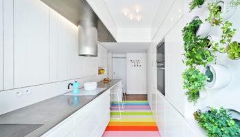 Узкая длинная кухня: оптимальное использование пространства