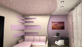 Дизайн натяжных потолков: 10 реальных примеров в дизайне гостиной