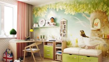 Фотообои в детскую комнату: интересное и простое решение для дизайна