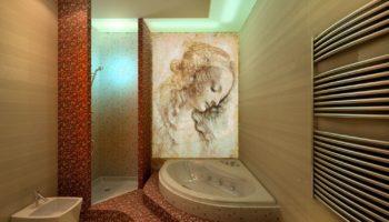 Панно в ванную: виды плитки и варианты дизайна стен ванной комнаты