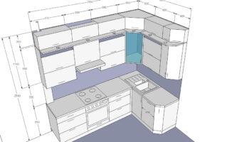 Размеры кухонного гарнитура: расчет по стандартной формуле и рекомендации по компановке