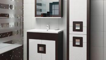 Шкаф-пенал для ванной комнаты: выбор мебели под планировку